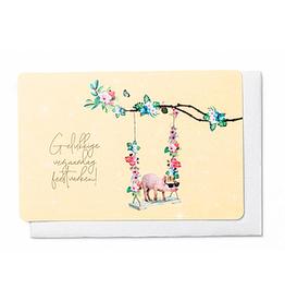 Enfant Terrible Enfant Terrible card + enveloppe 'gelukkige verjaardag feestvarken'