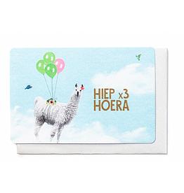 Enfant Terrible Enfant Terrible card + enveloppe 'hiep x3 hoera' lama