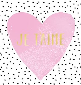 Paperproducts Design 20 napkins 'je t'aime' 33x33 cm