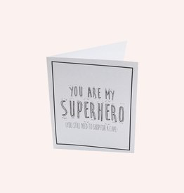 The Gift Label Postcard 'you are my superhero'