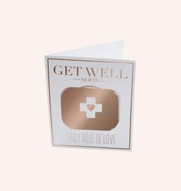 The Gift Label Postcard 'get well soon'