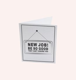 The Gift Label Postcard 'new job'