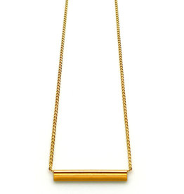 Nadja Carlotti Gold plated necklace étincelle mustard