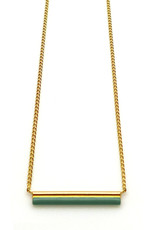 Nadja Carlotti Gold plated necklace Stella - Green
