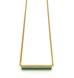 Nadja Carlotti Gold plated necklace étincelle green