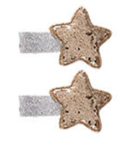 Juleeze Hair clips stars gold