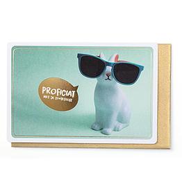Enfant Terrible Enfant Terrible card  + enveloppe 'proficiat met je lentefeest - konijntje'