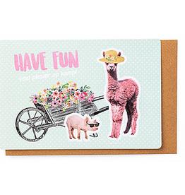 Enfant Terrible Enfant Terrible card + enveloppe 'have fun - alpaca''