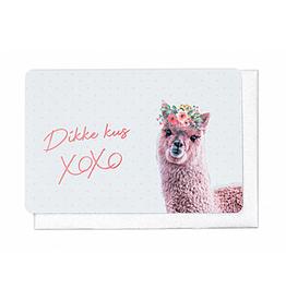 Enfant Terrible Enfant Terrible card  + envelope 'dikke kus XOXOXO'
