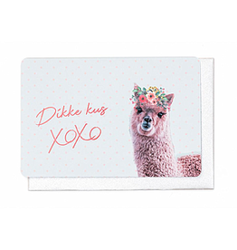 Enfant Terrible Enfant Terrible card  + enveloppe 'dikke kus XOXO'