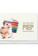 Enfant Terrible Enfant Terrible card  + enveloppe 'hieperdepiep hoera'