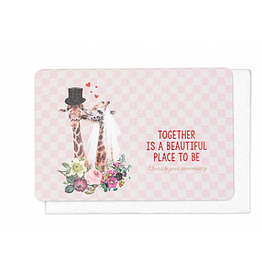 Enfant Terrible Enfant Terrible card + enveloppe ' together is a beautiful place'