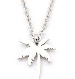 With love Necklace palmtree silver