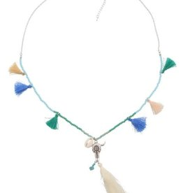 With love Necklace buffalo silver blue