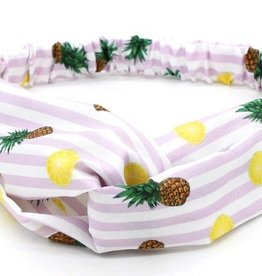 With love Headband pineapples - lemons white purple