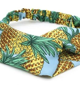 With love Headband pineapples light blue