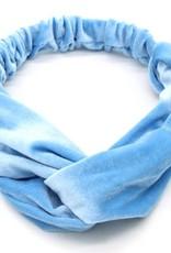 With love Headband velvet blue