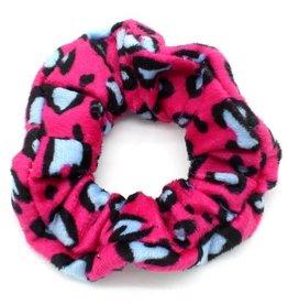 With love Scrunchie velvet leopard pink