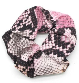 With love Scrunchie snake pink