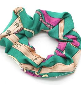 With love Scrunchie print green