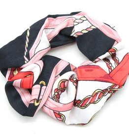 With love Scrunchie print black - pink