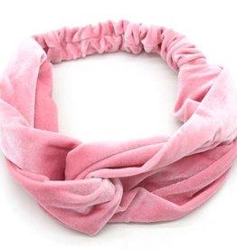 With love Headband velvet pink