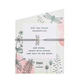 Timi Evil eye stretch bracelet silver - dark grey