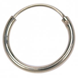 Treasure Silver hoop - gold plated 1.2 x 8 mm (per piece)