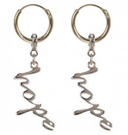 Treasure Silver hoops - gold plated - HOPE