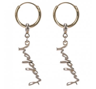 Treasure Silver hoops - gold plated - HAPPY