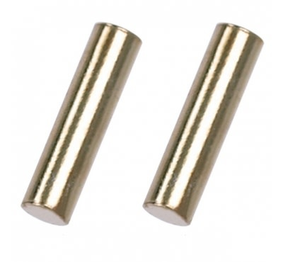 Treasure Silver studs - gold plated bar 2 x 8 mm