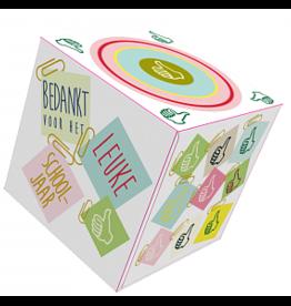 Mail-Box Tissuebox 'bedankt voor het leuke schooljaar'