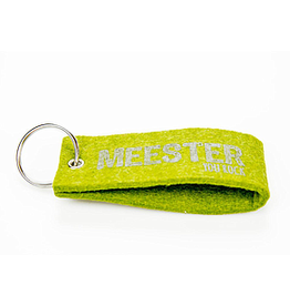 Vilten sleutelhanger 'meester you rock'
