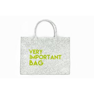 Mail-Box Vilt bag 'very important bag, very important person' 40 x 32 cm