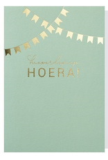 Papette Papette greeting card + enveloppe 'hieperdepiep hoera!'