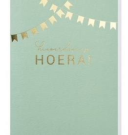 Papette Papette greeting card + enveloppe 'hieperdepiep hoera!'