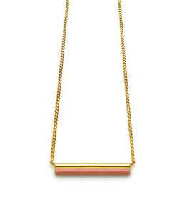 Nadja Carlotti Gold plated necklace étincelle terracotta