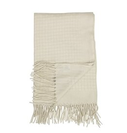 Bloomingville Bloomingville throw nature wool 190 x 135 cm
