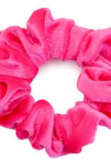 With love Scrunchie velvet carmine rose
