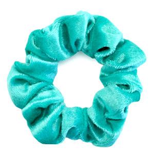 With love Scrunchie velvet viridian green