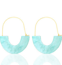 With love Earrings resin turquoise - gold
