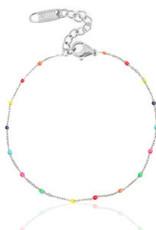 With love Bracelet rainbow silver