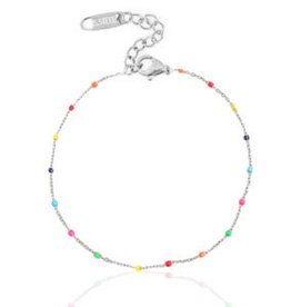 With love Bracelet rainbow silver