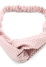 With love Headband polka dots pink