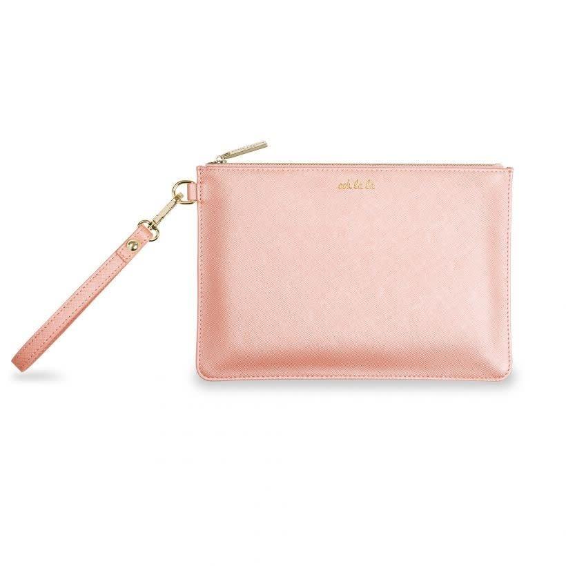 Katie Loxton Katie Loxton secret message pouch - ooh la la - gilrs just wanna have fun - peach 16x24 cm