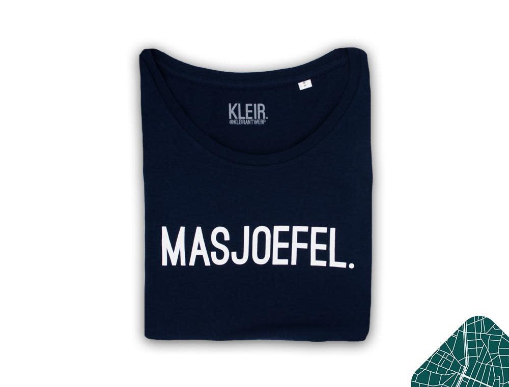 Kleir Kleir blue melange t-shirt vrouwen - MASJOEFEL
