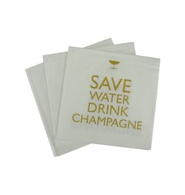Paperproducts Design Napkin 25x25 cm 'drink champagne' 20 pcs