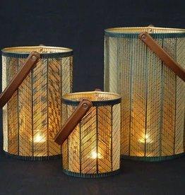 Branded By Lantern Lara petrol - gold 35 x 25 cm