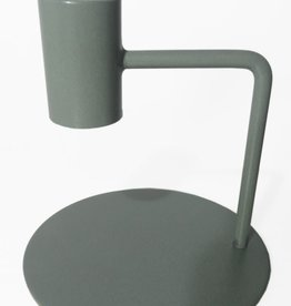 Branded By Candle holder 10 cm green