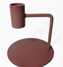 Branded By Candle holder 10 cm brown